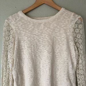 Lucky Brand Sweaters - Lucky Brand Cinema Sweater in Natural M Crochet